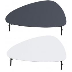 Table basse pieds acier noir mat et plateau MDF L93 x P50 cm