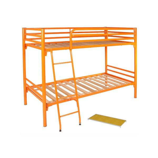 lit superpos m tal rome sommier panneau 80x200 cm. Black Bedroom Furniture Sets. Home Design Ideas