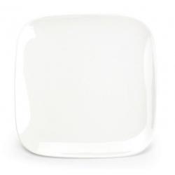 Assiette plate carrée Mexique en porcelaine 22 x 22 x H2,1 cm
