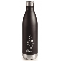 Bouteille thermos inox noire 26 cl