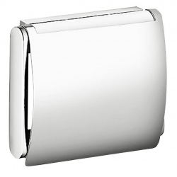 Distributeur papier WC mural avec couvercle en laiton chromé Architecto