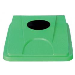 Lot de 6 couvercles verts pour collecteur tri selectif 60 L et 80 L