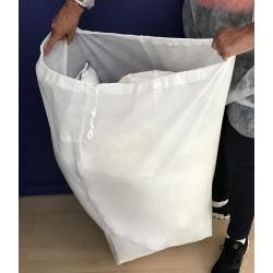 Lot de 25 sacs de linge réutilisable et jetable 40x80 cm