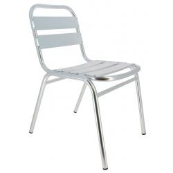 Chaise Bruxelles en aluminium anodisé