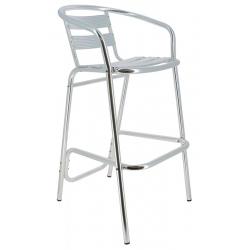 Chaise haute Bruxelles en aluminium anodisé