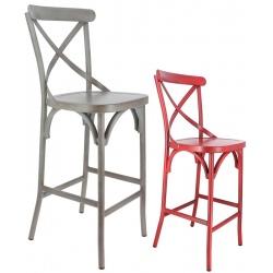 Lot de 2 chaises hautes Bayonne en aluminium
