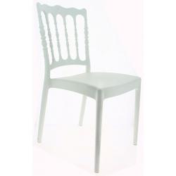 Chaise blanche Napoléon en polypropylène