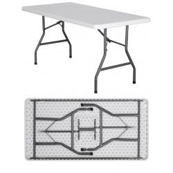 Table pliante polyéthylène Nîmes L152 x P76 x H74 cm