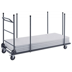 Chariot de table rectangle Nimes capacité 12 tables L198 x P83 cm
