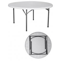 Table pliante polyéthylène Nîmes Ø180xH74 cm