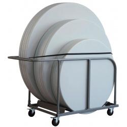 Chariot de table ronde Nimes capacité 12 tables