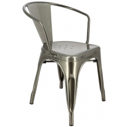 Lot de 4 fauteuils métal Chicago