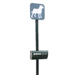 Borne de propreté canine avec distributeur de sacs canins en rouleau
