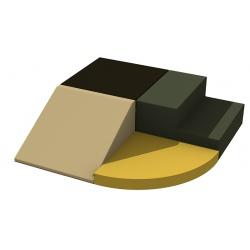 Motricité d'angle 4 modules ZEN H 20 cm