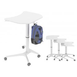 Table réglable en hauteur 70 à 100 cm Moon