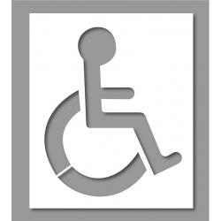 Pochoir place réservée Handicap 60x50 cm