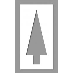 Pochoir flèche droite parking 46x120 cm