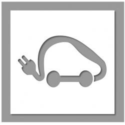 Pochoir voiture électrique 35x60 cm
