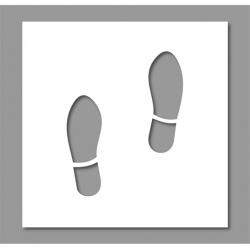 Pochoir 2 pieds marche 40x50 cm