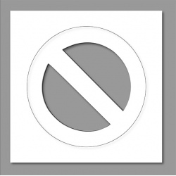 Pochoir interdiction de stationner 60x60 cm