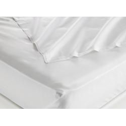 Taie d'oreiller 100% coton blanc 125 g portefeuille avec rabat 50x80 cm (le lot de 100)