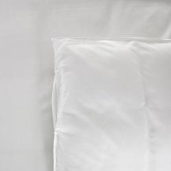 Drap plat Be Eco i-care polycoton 50/50 blanc avec liseret bleu 130 g 175x320 cm (le lot de 10)