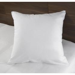 Taie d'oreiller i-care polycoton 33/67 blanc 130 g portefeuille avec rabat et volant piqué 68x68 cm (le lot de 10)