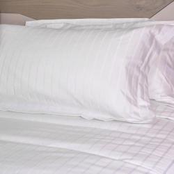 Taie d'oreiller Hypnos polycoton 80/20 blanc 145 g i-care portefeuille avec rabat 48x75 cm (le lot de 10)