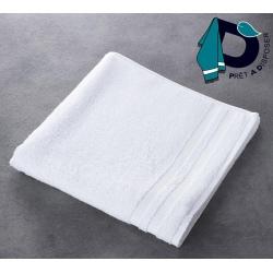 Maxi drap de bain Soft 100% coton blanc 450 g 100x150 cm (le lot de 3)