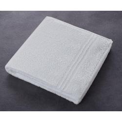 Drap de bain Boucle 90% coton 10% polyester blanc 380 g 70 x 140 cm (le lot de 5)