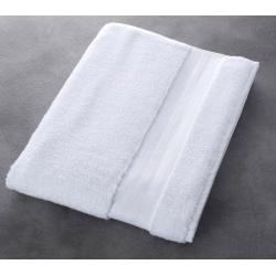 Maxi drap de bain Riviera 100% coton blanc 500 g 100x150 cm (le lot de 3)
