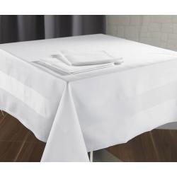 Napperon Satin 100% coton blanc 215 g 95x100 cm (le lot de 10)