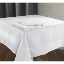 Nappe Satin 100% coton blanc 215 g 140x145 cm (le lot de 10)