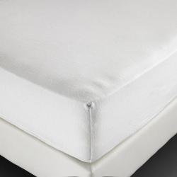 Alèse molleton Sanfor 100% coton blanc 210 g forme drap housse 90x200x30 cm