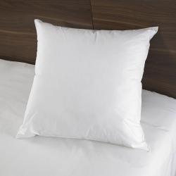 Oreiller Bien Etre 100% percale blanc et microfibre 900 g 60x60 cm (le lot de 15)