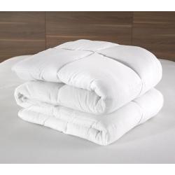 Couette Lotus 100% polyester blanc et fibres 400 g 240x220 cm (le lot de 6)
