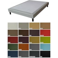 Sommier tapissier Luxe ép 26 cm finition similicuir 120x190 cm