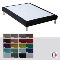 Sommier tapissier Luxe ép 26 cm finition velours 90x200 cm