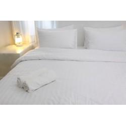 Housse de couette satin 125g blanc 210x240 cm
