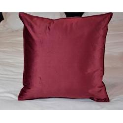 Coussin déco déhoussable tissu Elvis rubis 40x40 cm (le lot de 4)