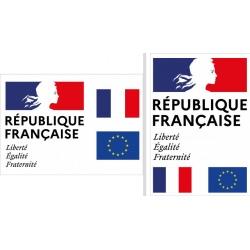 """Plaque de façade """"Liberté Egalité Fraternité"""" A3 (29,7 x 42 cm) Modèle Classique"""