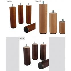 Pieds bois H 25 cm pour sommiers (le lot de 2)