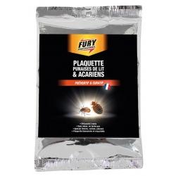 Lot de 24 Fury plaquette punaises de lit & acariens x 1