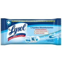 Lot de 8 Lysol lingettes désinfectantes biodégradables multi-usages x 80