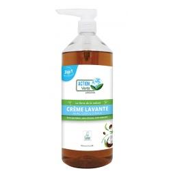 Lot de 15 Action Verte gel lavant mains, corps, cheveux coco Ecolabel 1L
