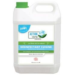 Lot de 4 Action verte désinfectant cuisine Ecocert 5L