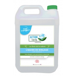 Lot de 4 Action verte liquide de rinçage Ecocert  5L