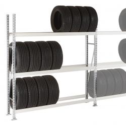 Rayonnage stockage de pneus Elt départ 3 niveaux L200 x P40 x H200 cm
