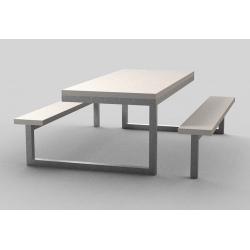 Table de pique nique béton et acier Loop 200 x 190 cm