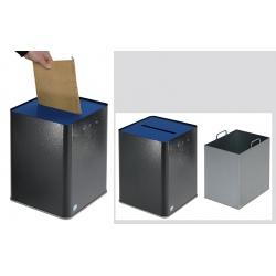 Collecteur de papier A4 RGPD argent antique et bleu